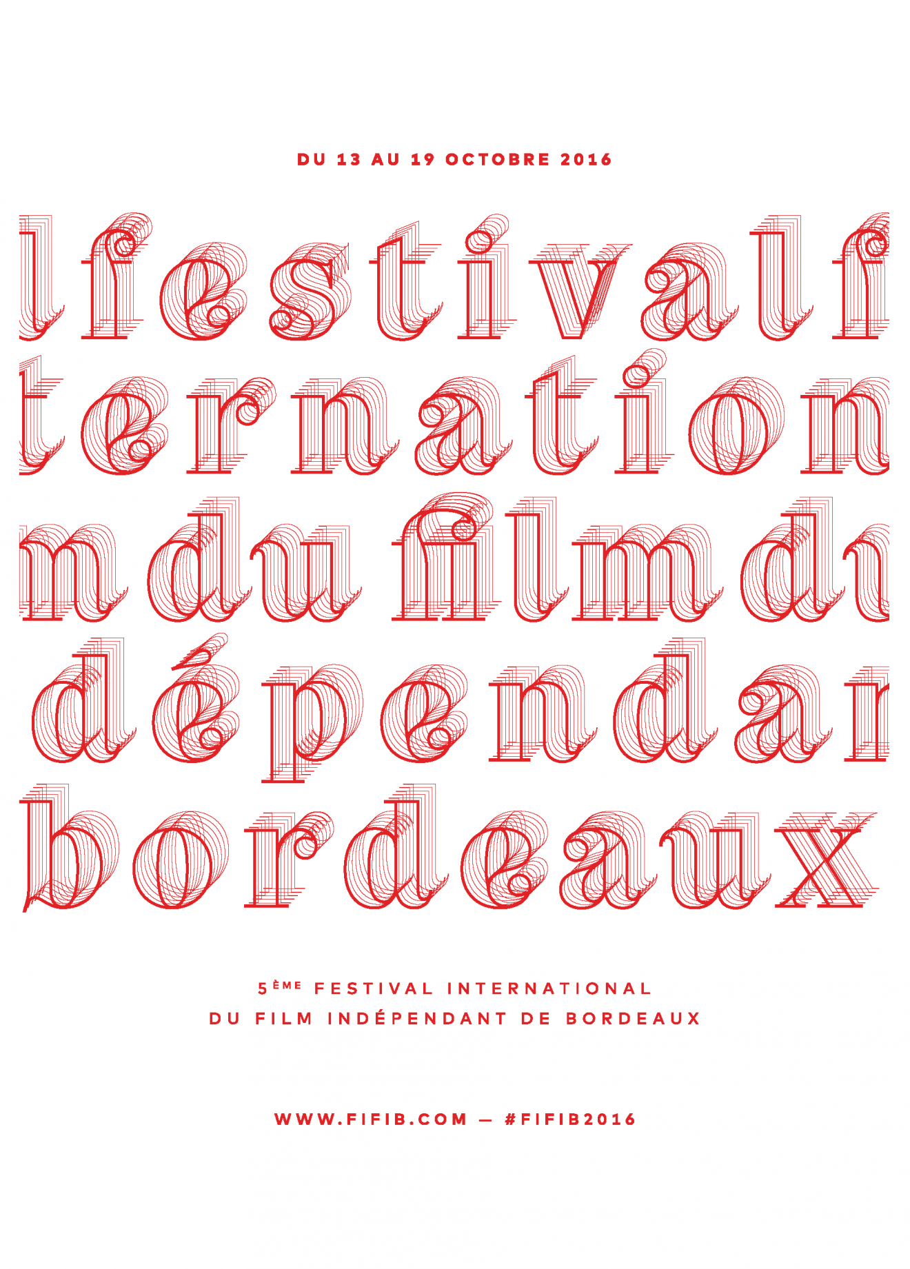 fifib2016, type, lettering, five, festival, cinema, movie, bordeaux